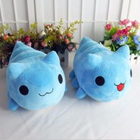 Wholesale Big Cats Mascot - Bugcat Capoo Cosplay Blue Cute Cat Mascot Handmade Toy Anime Stuffed & Plush Cartoon Doll