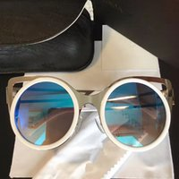 Wholesale Frames Gallery - Lind Farrow Gallery Luxury Fashiong Round Sunglasses With Coating Mirror Lens UV Protection Popular Brand Designer Top Quality Come With Box