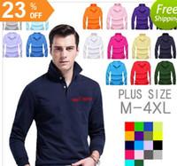 Wholesale Long Sleeve Polyester Polo Shirts - Brand Designer Polo Shirts Long Sleeve Polos Shirts lapel Mens t shirt