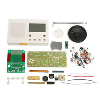 Wholesale Lcd Monitor Kit Diy - Wholesale-White FM Radio Electronic DIY Hobbies Learning Suite Kit For Scale Teaching LCD Monitor Durable Quality