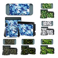 Wholesale Camo Vinyl Wholesale - Camo Camouflage Painted Vinyl Game Protective Skin Sticker For Nintendo Switch NS NX Console + Controller Decal Cover Sticker