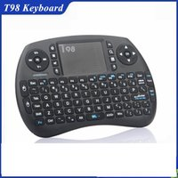 Wholesale Computers Sold Wholesale - Hot Selling Product 2017 Portable T98 Mini Wireless Air Mouse Keyboard 2.4ghz Wireless Mouse for Android TV Box, Computer and Netbox BX0212