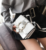 Wholesale Factory Ladies Style - Factory outlet brand fashion bag woman diamond hand bag street style pearl diamond all-match clamshell handbag leather shoulder bag