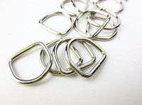 Wholesale Heavy Webbing - Free Shipping 4500pcs 1 inch 25mm Heavy Dee Rings For Webbing Strapping D Rings Bag Hanger