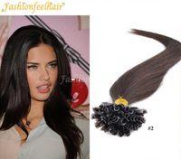 "Wholesale Nail Tip Indian Hairs - 18""-28"" 300g lot Italian Keratin Nail Tip U Tip Hair Extensions 1g s 100% Indian Virgin Hair #1b,#2,#4,#27,#613"