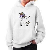 женщина s повседневная одежда оптовых-Мода американский Eur стиль осень пуловер Единорог печатных с длинными рукавами женские пуловеры повседневная толстовки верхняя одежда
