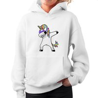 casuals kleidung frauen großhandel-Fashion American Eur Style Herbst Pullover Einhorn Printed Long-sleeved Frauen Pullover Casual Hoodies Top Kleidung