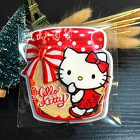Wholesale Candy Kids Favors Bags - Wholesale- 100PCS Hello kitty candy box bag baby shower favors kids birthday party supply wedding decoration gift souvenirs