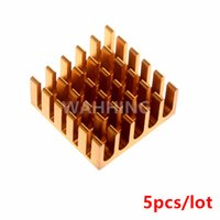 Wholesale Cool Fins - Wholesale- 5pcs Computer Cooling Fin Radiator Aluminum Heatsink Heat sink for Electronic Heat dissipation Cooling Pads 22*22*10mm HY1144*5