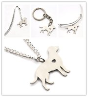 Wholesale pet love - Labrador dog necklace charm heart cute pet i love dogs charm pendant necklace bangle keyring bookmark