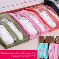 Wholesale Waterproof Shoe Storage - High Quality Oxford Cloth+PVC Multifunction Waterproof Travel Family Shoe Storage Bag Can Be Washed 7 Colors Can Be Selected.