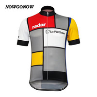 Wholesale Mtb W - Wholesale custom new cycling jersey bike top classic La Vie Claire Wonder W Retro clothing bike wear mtb road maillot ropa ciclismo NOWGONOW