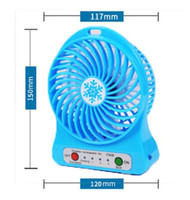 Wholesale Portable Rechargeable Batteries - rechargeable mini USB fan USB fans rechargable USB fan cooling fan battery handheld portable with LED light wn124
