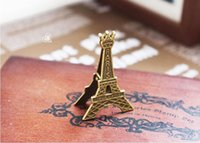 Wholesale Eiffel Tower Holders - Romantic Paris Theme Vintage Eiffel Tower Place Card Holder Wedding Party Table Decoration Favors And Gifts ZA3690