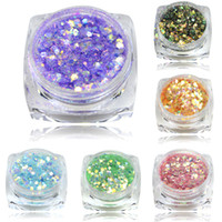 Wholesale Glitter Mixes For Nails - Wholesale- 1Bottle 3g Mixed Glitter Dust Nail Powder USA Nail Decoration Glitter Bling Sequin Powder For Glitter Powder Nail Tool T08-26