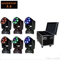 Flight Case 6in1 Verpackung DMX 4 / 8CH Mini Led Moving Head Waschspot 2in1 Zoom Licht 1 * 30W Gobo + 6 * 8W RGBW 4IN1 Wash American DJ
