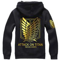 Wholesale Attack Titan Eren Cosplay - Attack on Titan Hoodie Jacket Shingeki no Kyojin Winter Coat Cosplay Eren Levi Hoodie Sweatshirt Men Women Halloween Costume