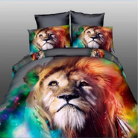 Wholesale Washing Machine Cleaning - 3D Reactive Print Bedding Sets Animal Bedclothes Wolf Leopard Tiger Lion Panda Flower 4pcs Queen Size Hot Shopping