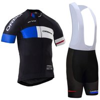 Short orbea shorts - 2017 TEAM ORBEA cycling jersey D gel pad bibs shorts Ropa Ciclismo quick dry pro cycling wear mens summer bike Maillot Suit