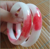 Wholesale Multi Colour Bracelet - Beautiful Jadeite Bangle   Girls Bracelet Multi-tone Colour Fashion Bangle 1PCS 61mm