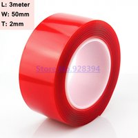 Wholesale Role Tape - Wholesale- 2016 1 Roll 50mm x 3M Super Strong Double Sided Transparent Acrylic Foam Adhesive Tape Clear Multi-role Tape (2mm Thick)