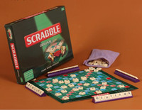 Compra Giochi In Inglese Francese-All'ingrosso-2017 New Quality Inglese Francese Spagnolo Russo Scrabble Giochi Kid Spelling Puzzle di apprendimento Letters Games Table Jigsaw