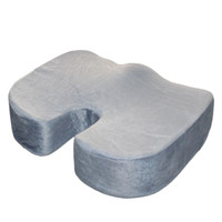 yastıklar için köpük dolgu toptan satış-Ultra Konfor Bellek Köpük Kuyruk Sokumu Ortopedik Sandalye Koltuk Minderi Ped Ev Ofis Koltuğu Çözüm Gri için Sırt Ağrısı Ağrısı