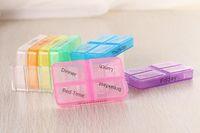 tenedores de píldora de medicina al por mayor-Handy 7 Day Pill Mini Box Porta-tabletas Dispensador de medicamentos Organizadores Tablets Estuches de pastillas Pill Splitters