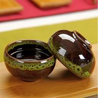 YGS-Y187 High Quality 4 pcs lot China Dehua Colorful ceramic cup Binglie tea cup Beautiful Environmental protection