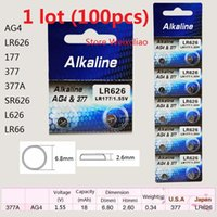 Wholesale battery ag4 377 for sale - Group buy 100pcs AG4 LR626 A SR626 L626 LR66 V Alkaline button cell battery coin batteries