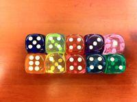 Wholesale Pvc Dies - Best Promotion 100Pcs 14mm Multicolor Acrylic Round Corner Dice 6 sided Die Portable Table Games Dice