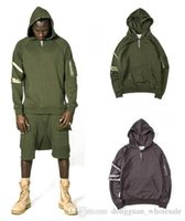 Nice New Streetwear 81s Fashion Tracksuit Одежда Мужская куртка Одежда Крис Браун Kanye Drake Zip Разделите серые толстовки Hip Hop