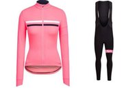 Wholesale Red Women Cycling Jersey - NEW women Rapha cycling jersey sets 2017 Spring Autumn ropa ciclismo maillot ciclismo bicicleta bike woman Bicycle jersey
