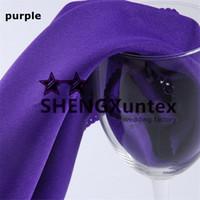 Wholesale Purple Polyester Napkins - Purple Color 100% Plain Poly Table Napkin For Banquet Wedding