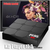Wholesale Tv Box V3 - New M9S V3 Smart Android 6.0 TV Boxes Rockchip RK3229 Quad Core 1GB 8GB KDplayer 17.3 Fully Loaded Google Set Top Box 3D Free Movies