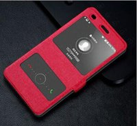Wholesale Clamshell Mobile Phones - HUAWEI P8 Lite shell protective sleeve double window clamshell mobile phone HUAWEI mobile phone holster