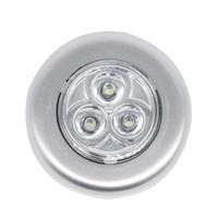 ingrosso proiettori per camera dei bambini-Super Bright dell'automobile LED di notte di tocco della luce 3 LED per l'automobile auto interni Trunk porta di sicurezza Spingere Light Touch Notte Fascio della lampada