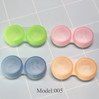 Wholesale Cheap Contact Lens Cases - Cheap Contact Lenses Case Double Case Contact Lenses Accessories Lens Container light travel kit