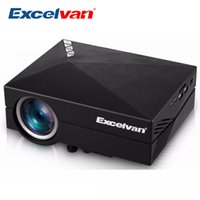 Wholesale dlan hdmi - Wholesale-Excelvan GM60A Portable Home Projector 800*480 1000Lumens Support DLAN MIRACAST With USB SD VGA HDMI AV Input LED LCD Proyector