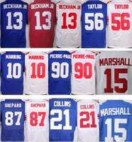 Wholesale Elite 13 - Men's Elite 13 Odell Beckham Jr 15 Brandon Marshall 21 Landon Collins 10 Eli Manning 87 Sterling Shepard Lawrence TayloR Jerseys