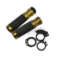 Wholesale HB BR CNC Aluminum MM handle bar throttle Colour Bronze motorcycle hand grips For cafe racer