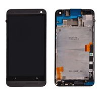 Wholesale New M7 One - New Black Touch Screen LCD Digitizer Assembly with Frame Replace For HTC One M7