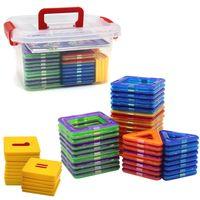 Wholesale Educational Toys Blocks - 72pcs lot Magformers Blocks 3D Magnetic Building Blocks Magformer Educational Construction Building Bricks DIY Magformers Blocks Model Toy