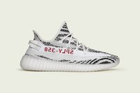 Wholesale Fahion Shoes - Fahion BZ0256 SPLY-350 Black White 350v2 Boost Kanye West Men Women Running Outdoor Sneakers Casual Shoes True Boost
