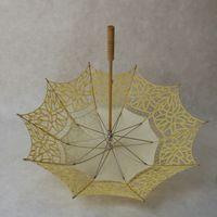 Wholesale Sun Umbrella Parasol Sale - Embroidered Cotton Lace Parasol Sun Umbrella Vintage Style Handmade Umbrellas Wedding Bridal Party Decoration Supplies Hot Sale
