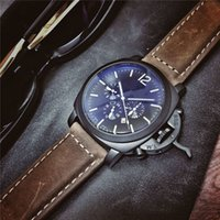 Wholesale High End Mens Watches - Latest Sales Fashion Top Mens Luxury Watches High-End Italian Navy Automatic Mechanical Movement Leather Watch Men's Business Watch