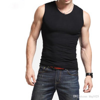 Wholesale Active Base - Men Boy Body Compression Base Layer Sleeveless Summer Vest Thermal Under Top Tees Tank Tops Fitness Tights