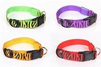 Wholesale Cat Zebra - New Zebra Pet Dog LED Collar Glow Cat Collars Flashing Nylon Neck Light Up Training Collar for Dogs 200pcs DHL FEDEX FREE