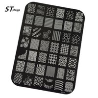 Wholesale Laced Nail Stamp Designs - Wholesale-1pcs New Stamping Fashion Lace Flower Designs Nail Art Templates DIY Stencil Stamp Plates Polish Image Manicure Tools XY01-20