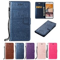 Wholesale samsung kitty cover online – custom For Samsung Galaxy J3 Prime Wallet Cases PU Leather Covers Flip Buckle Card Holder Embossingt Kitty National Calf Elephant